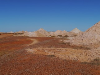 The australian opal mines in Coober Pedy