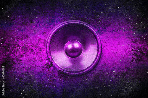 Purple grunge music speaker - 60094288