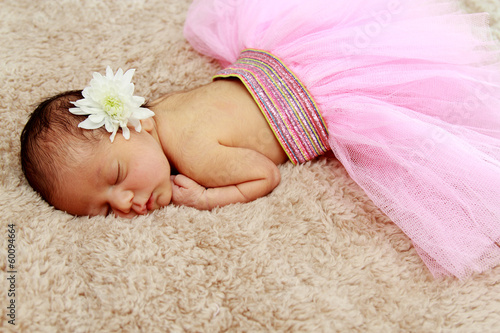 Portrait of newborn sleeping baby