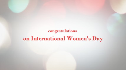 Graphics compliments International Women's Day