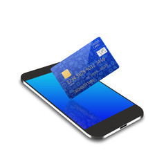 creditcard on smartphone,cell phone illustration