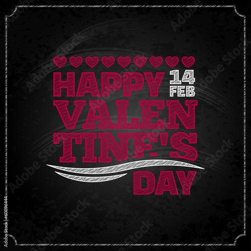 valentines day chalkboard design background