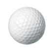 Close up of a golf ball isolated on white background - 60096818