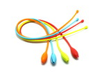 Multi colored silicone hot cooking bands