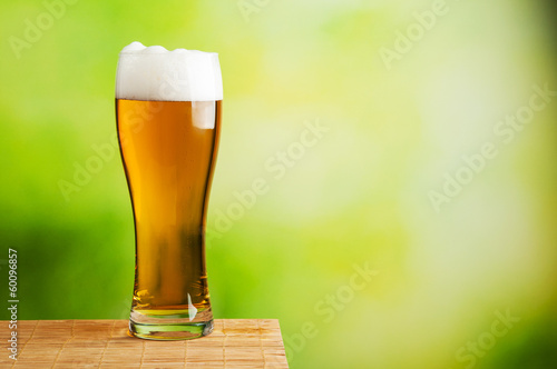Fresh beer glass