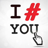 I hashtag you (symbol)