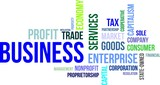 word cloud - business