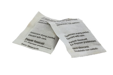 Desiccant drying paper packets