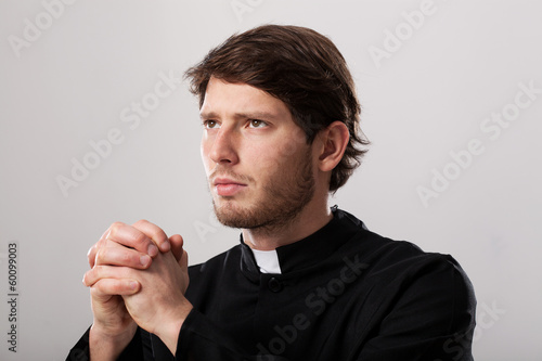 Clergyman praying