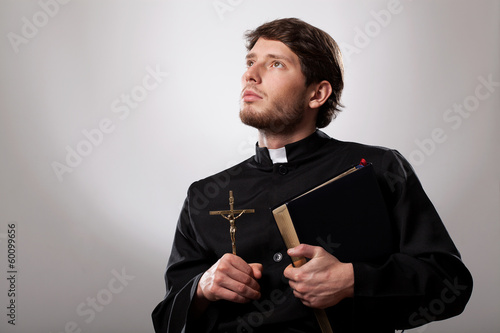 Vicar with bible - 60099656