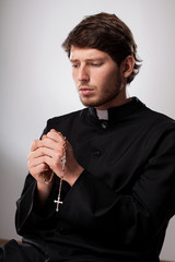 Cleric praying