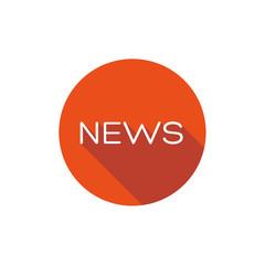 News flat icon button
