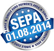 "Button Banner ""SEPA"" August blau/silber"