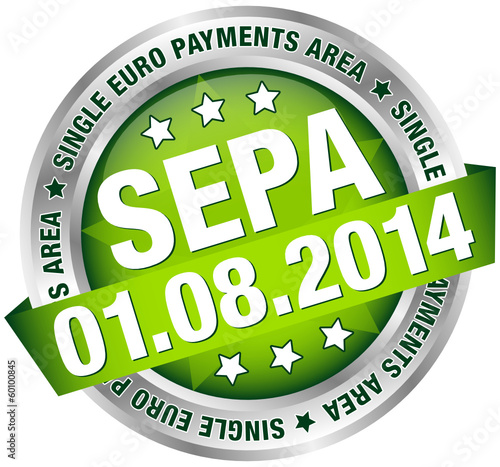 "Button Banner ""SEPA"" August grün/silber"