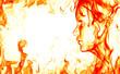 Fiery face