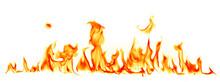 "Постер, картина, фотообои ""Fire flames isolated on white background"""