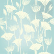 Seamless floral background. Illustrated texture with flowers