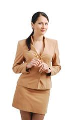 Attentive businesswoman.