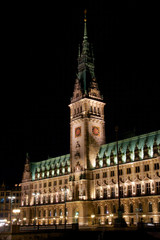 Rathaus Hamburg by Night