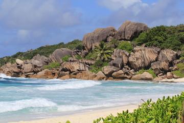 Plage de rêve , aux îles Seychelles