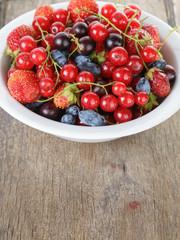 fresh garden berries in bowl