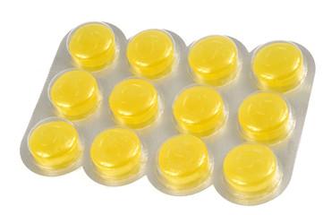 Plaquette de pastilles pour la gorge