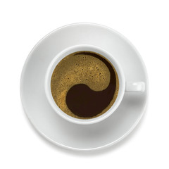 coffe cup with yin-yang symbol