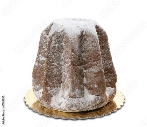 italian cake named Pandoro, typical christmas cake