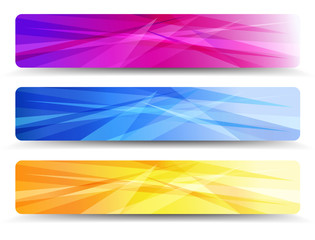 A modern set of vector banners with abstract background
