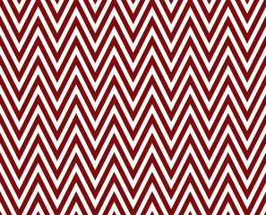Thin Dark Red and White Horizontal Chevron Striped Textured Fabr