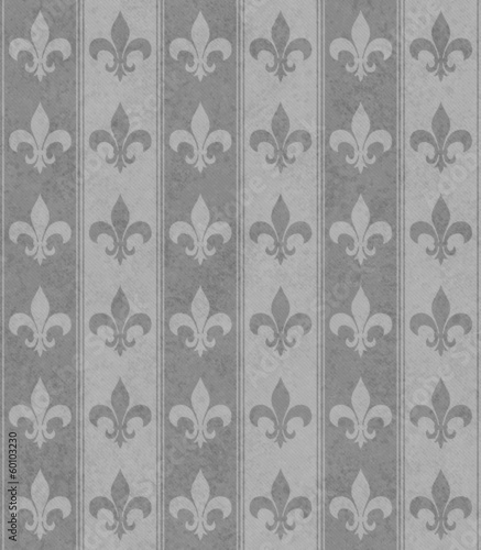 Gray Fleur De Lis Textured Fabric Background