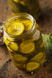Homemade Organic Crunch Green Pickles