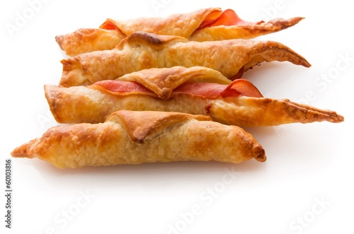 Croissants au bacon.