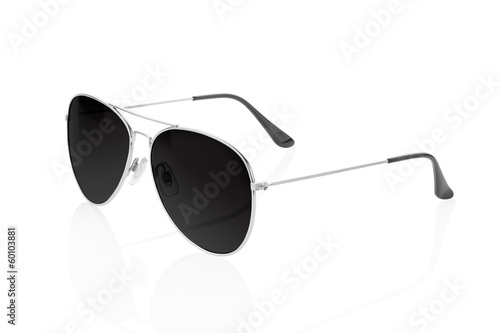 Black sunglasses on white, clipping path
