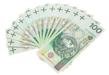 Pieniądze - złotówki - stówki