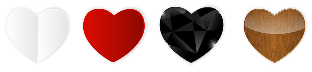 Set of Hearts. Vector Illustration
