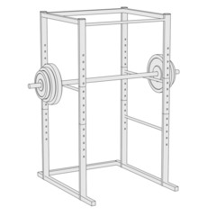 cartoon image of fitness cage