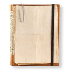 old notebook  on a white