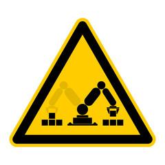 Symbol feststehender Roboter mit 360 Grad Wirkungskreis rws1