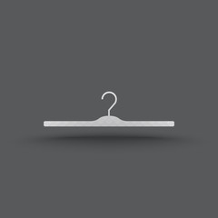 Vector of transparent hanger clothes icon on isolated background
