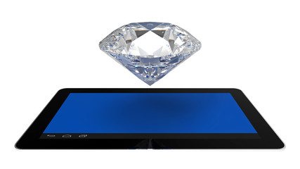 Diamond over tablet computers