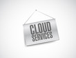 cloud services banner sign illustration design