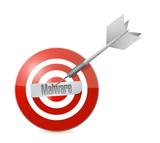 malware target concept illustration design poster