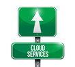 cloud services road sign illustration design