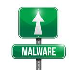 malware road sign illustration design poster