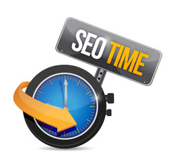 seo time watch illustration design
