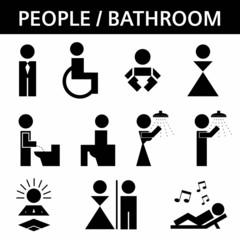 Toilette Piktogramme Set