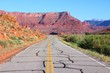 Utah road in Castle Valley. United States.