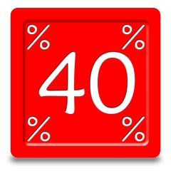 Bottone sconto 40%