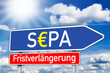 Wegweiser mit SEPA